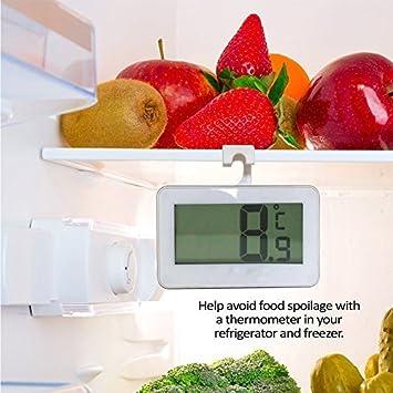 Primi Digital impermeable termómetro de refrigerador nevera ...