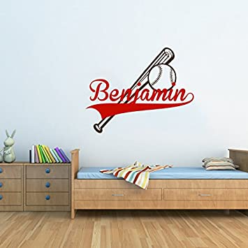 Custom Name Personalized Baseball Monogram Wall Decal Vinyl - Custom vinyl wall decal equipment