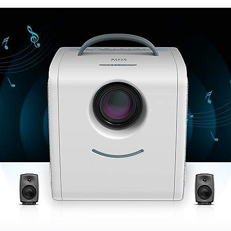 CA&jun Proyector LED Mini Hogar Proyector Infantil HD 1080P ...