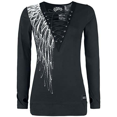 ded21d829d6da Innocent Shadow Angel Top Manga Larga Mujer Negro outlet - www.inlog ...