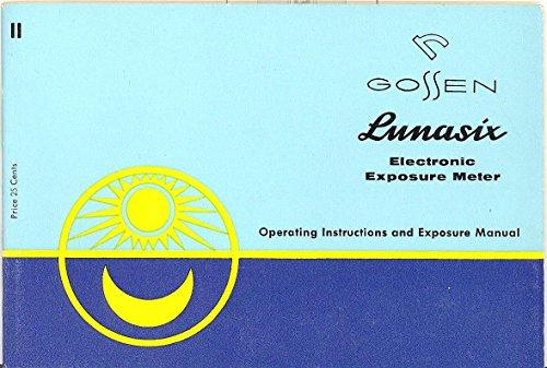 ronic Exposure Meter Original Operating Instructions and Exposure Manual ()