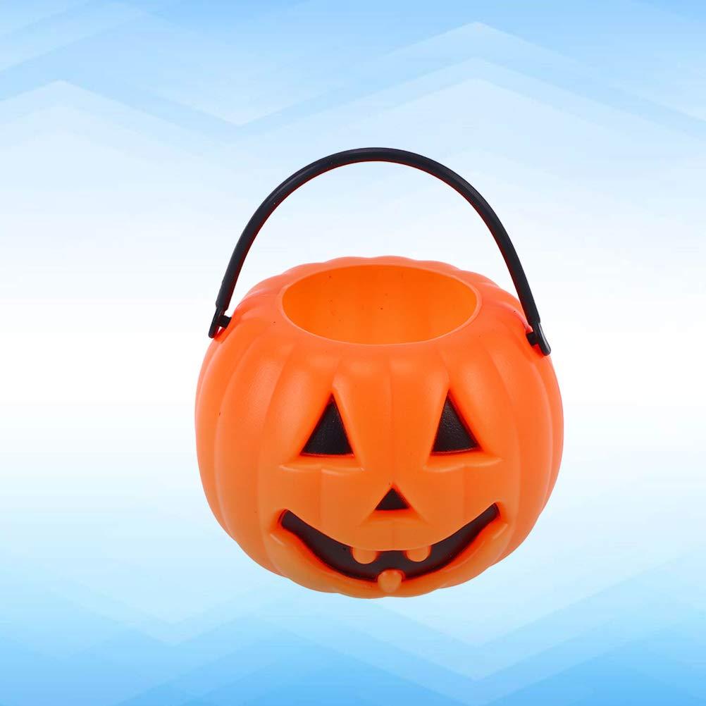 OSALADI 12stk Halloween Eimer S/ü/ßigkeits-Eimer Halloween Korb f/ür S/ü/ßigkeiten Horrorparty Halloween Party Tischdekoration Gr/ö/ße ca 8,5x5,5cm K/ürbis
