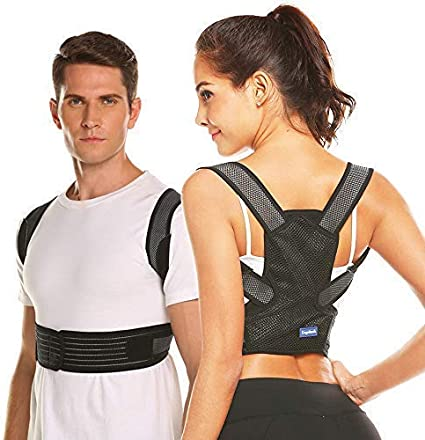 Adult Posture Corrector Back Brace Support Shoulder Belt Adjustable Women Men