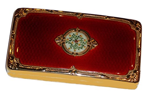 Table box in silver with enamels – hand made by Salimbeni – Collectible objet ()