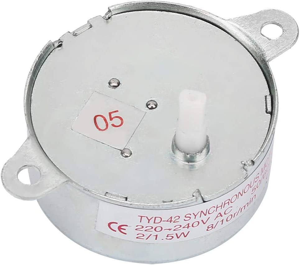 Liukouu AC 6-240V 20mA Permanent Magnet Synchronous Motor 2W 1.6NM Industrial Control Motor 5//6rpm