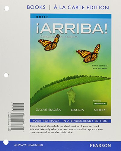 arriba-comunicacion-y-cultura-brief-edition-2015-release-books-a-la-carte-plus-myspanishlab-access-c
