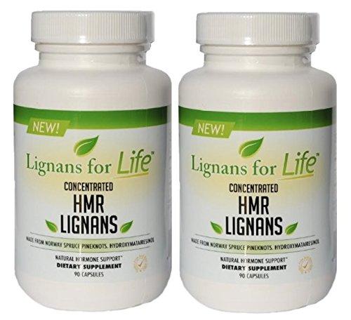 HMR lignanos 2 pack 40 mg 2 botellas de 90 ct