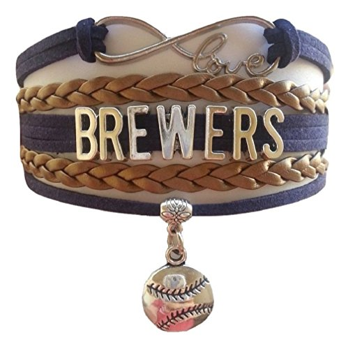 Brewers Multi Strand Leather Like Team Charm Bracelet by Got To Have -