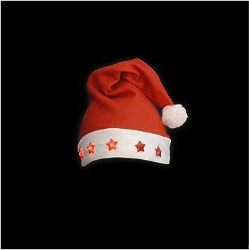 Weihnachtsbommel 2er Set Nikolausmütze Licht Leuchtmütze Weihnachten