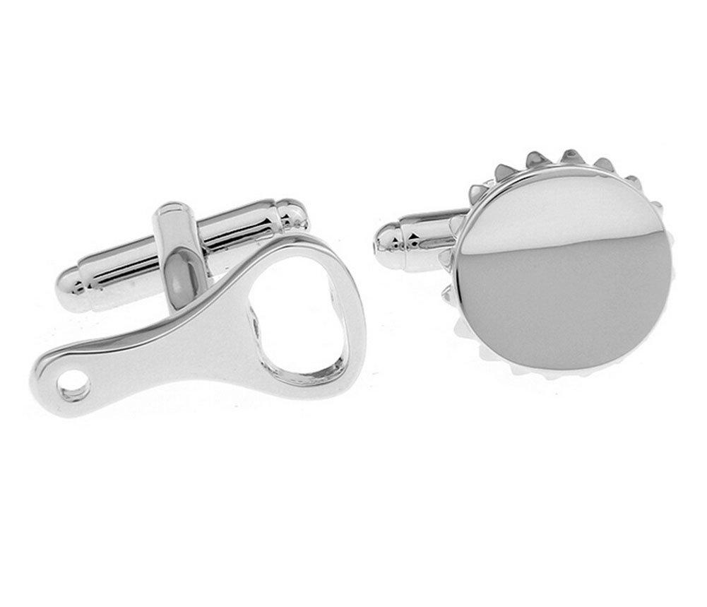 Hosaire Gemelos del Abrebotellas 19X10 mm Gemelos Camisa Acero Inoxidable Color Plata: Amazon.es: Juguetes y juegos