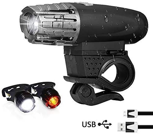 2400LM Cycling Mini Head Light LED USB Rechargeable Bicycle Bike Front Lamp