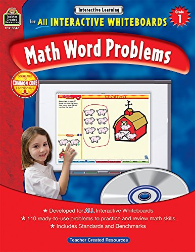 Math Word Problems for All Interactive Whiteboards, Grade 1