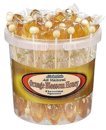 All Natural Orange Blossom Honey Tea Spoons: 50 Count