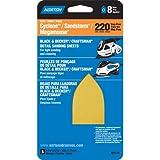 "Norton 07660701149 Iron Shape Sanding Sheet for Black and Decker Sandstorm/Mega-Mouse/Craftsman 3 in 1 Multi-Sander, 8 Vac Holes, Hook and Loop, 6-3/4"" Length x 4-3/16"" Width, P220 Grit, Very Fine Grade (Pack of 5)"