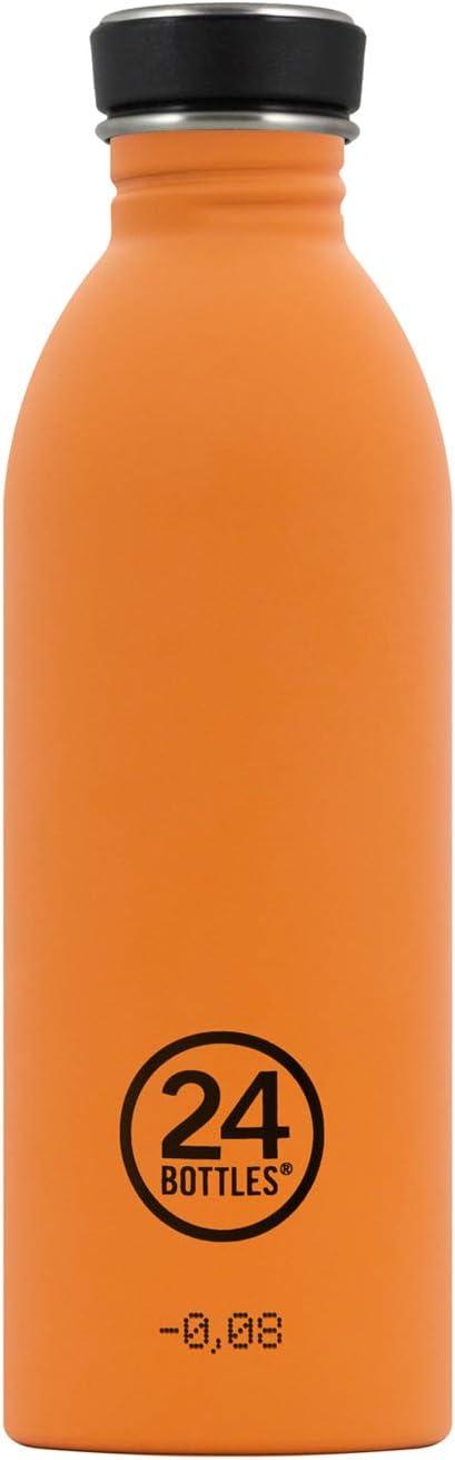 24Bottles Urban - 24 Bottles Bidon de Acero Inoxidable Color Amarillo 500ml Unisex adulto