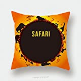 Custom Satin Pillowcase Protector Vector Illustration Of Africa Landscape With Wildlife And Sunset Background Safari Theme 418757584 Pillow Case Covers Decorative