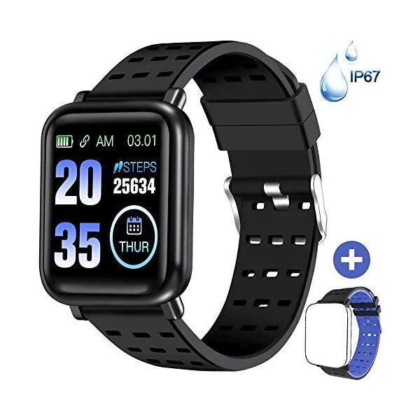 ANCwear Fitness Tracker Watch Activity Tracker with Heart Monitor and Blood Pressure,...