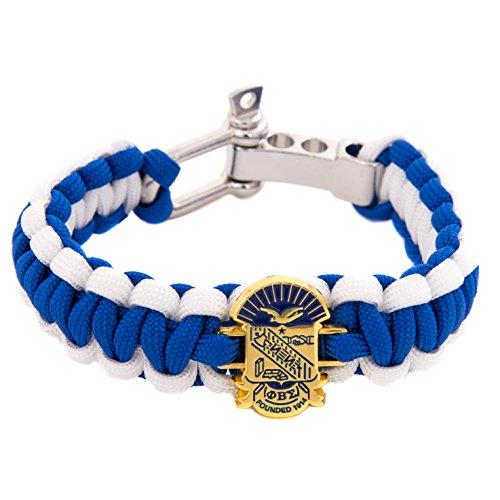 Sigma Phi Fraternity - Phi Beta Sigma Fraternity Crest Paracord Bracelet - Adjustable Size