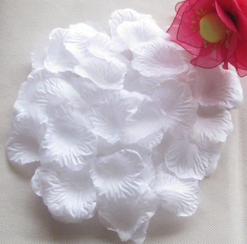 [Vlonfine® 1500pc Artificial Flower Rose Petals Wedding Flowers Favors (Snow White)] (Snow White Props)