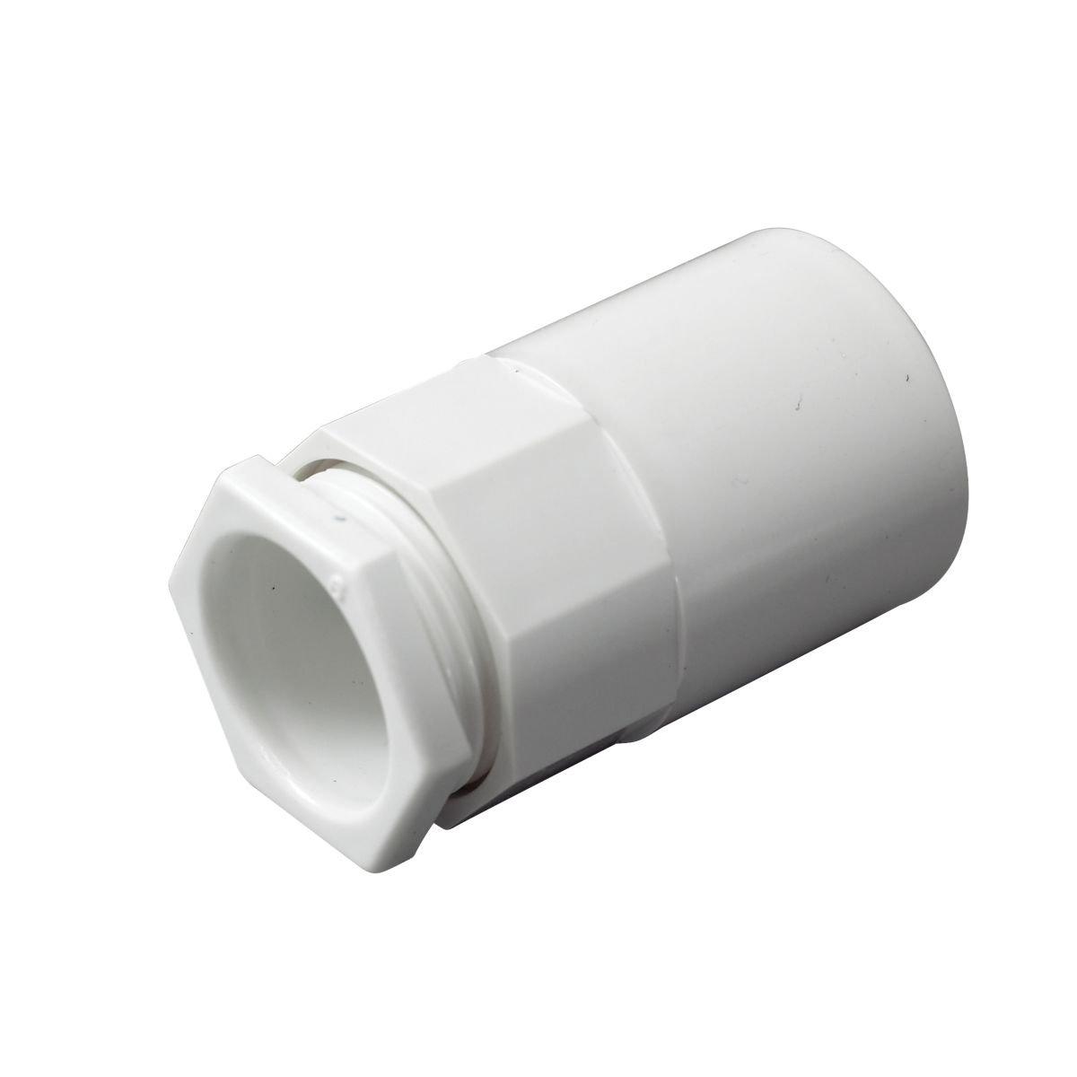 Tower Female Adaptors 20mm White Pack of 2