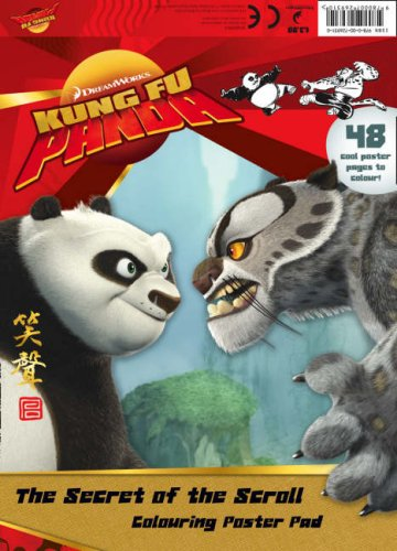 Secret Of The Dragon Scroll The Colouring Poster Pad Kung Fu Panda Movie Tie In 9780007269310 Amazon Com Books