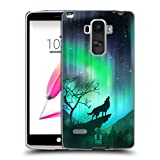 Head Case Designs Howling Wolf Northern Lights Soft Gel Back Case Cover for LG G4 Stylus / G Stylo