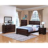 New Classic 00-143-35N Garrett 5-Piece Bedroom Set Queen Storage Bed, Dresser, Mirror, Two Nightstands, Chestnut