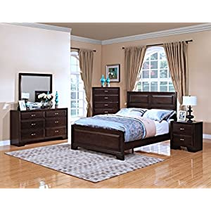 New Classic 00-143-100 Garrett Eastern King Bed, Chestnut