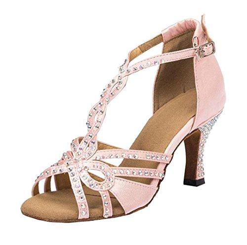 5cm Pink Heel 7 Y Jazz Satén Mgm De Mujer Contempóraneo joymod SxzwAB7
