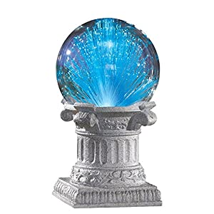 Solar Fiber Optic Gazing Ball Outdoor Garden Decoration, Blue
