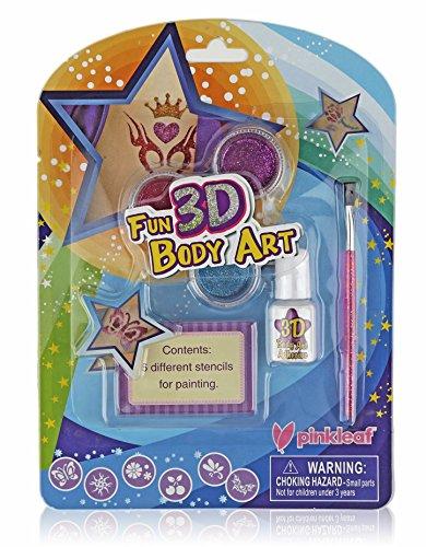 Pinkleaf 3D Glitter Tattoos & Body Art Kit For Boys & Girls, Indoor/Outdoor Fun (Diy Costumes For Little Boys)