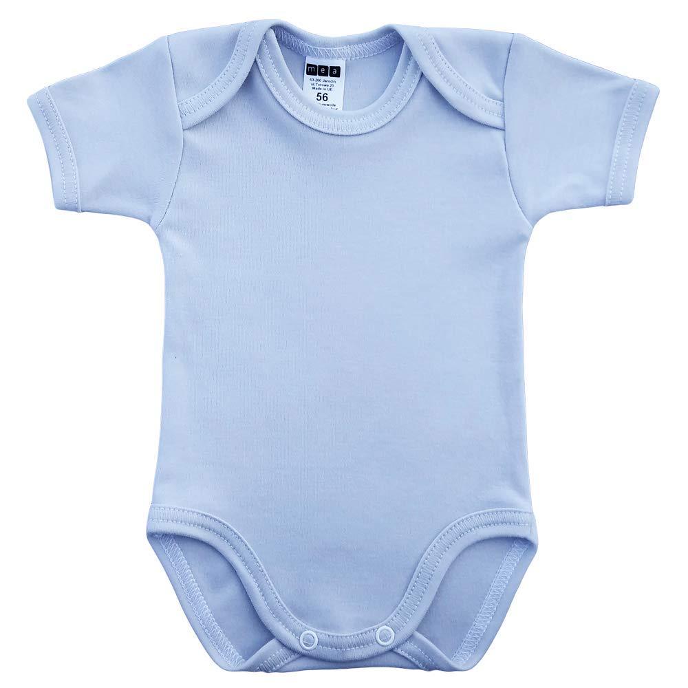 Baby Body f/ür Jungen Baby Body f/ür Madchen MEA BABY Unisex Baby Kurzarm-Body mit Aufdruck aus 100/% Baumwolle im 5er Pack Baby Body mit Aufdruck
