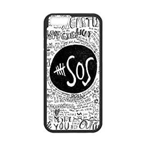At-Baby Personalized Retro Style iPhone 6 Case Customized 5Sos Seconds of Summer Pattern iPhone 6 4.7 inch Case Cover (Laser Technology)