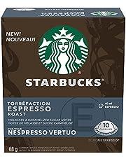 Starbucks by Nespresso Espresso Roast Coffee Pods, Dark Roast, Nespresso Vertuo Line Compatible Capsules, 4 X 10 Coffee Pods, 40 Count