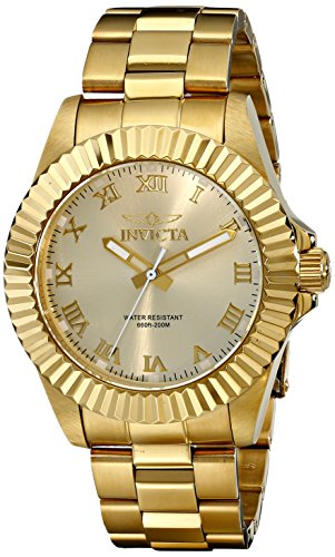 (Invicta Men's 16739 Pro Diver Analog Display Swiss Quartz Gold Watch)
