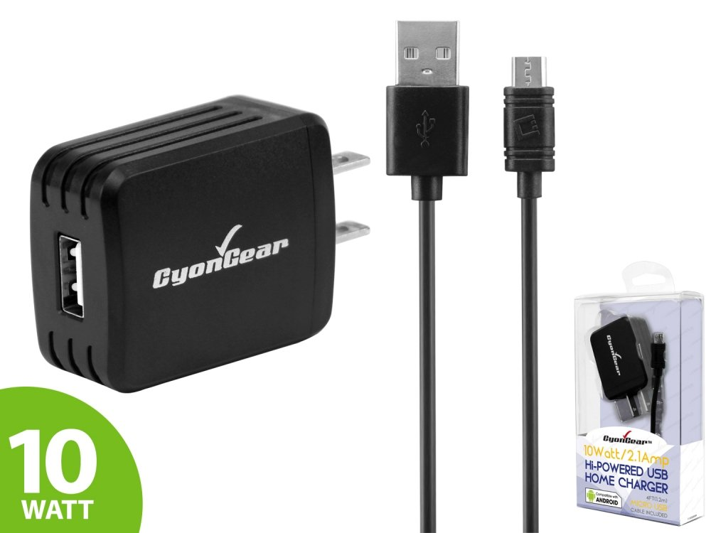 10 Watt Wall AC Charger With Data Cable Black For Samsung Convoy 4