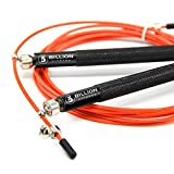 5BILLION Speed Jump Rope - Orange - 360 Swivel ball - Work for Double Unders, WOD, MMA - Includes Carry Case, Spare Screw Kit & Replacement Bag