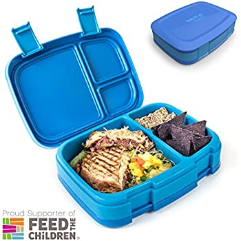Bentgo Fresh (Blue) – Leak-Proof & Versatile 4-Compartment Bento-Style Lunch Box – Ideal for Portion-Control and Balanced Eating On-the-Go – BPA-Free and Food-Safe Materials