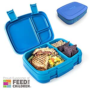 bentgo fresh blue leak proof versatile 4 compartment bento style lunch box. Black Bedroom Furniture Sets. Home Design Ideas