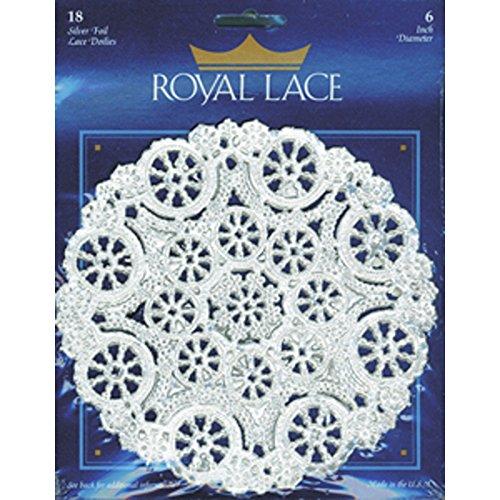 Foil Doilies (Royal Lace Round Foil Doilies, Silver, 6-Inch, Pack of 18 (B26504))