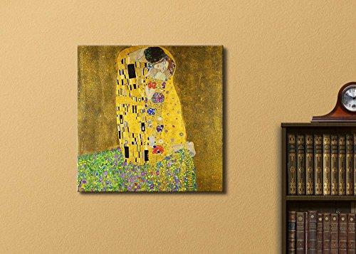 The Kiss by Gustav Klimt Austrian Symbolist Painter Golden Phase