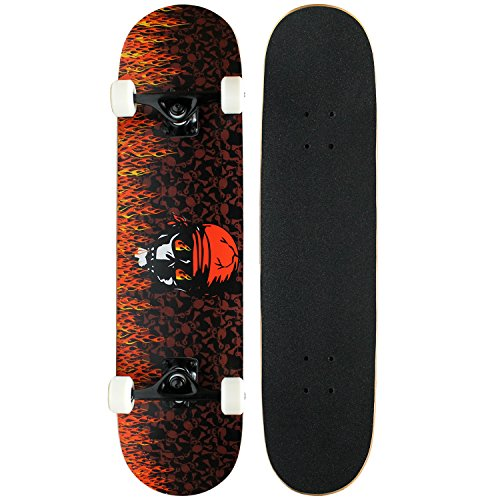 Krown Intro Skateboard, Red Flame for sale  Delivered anywhere in USA