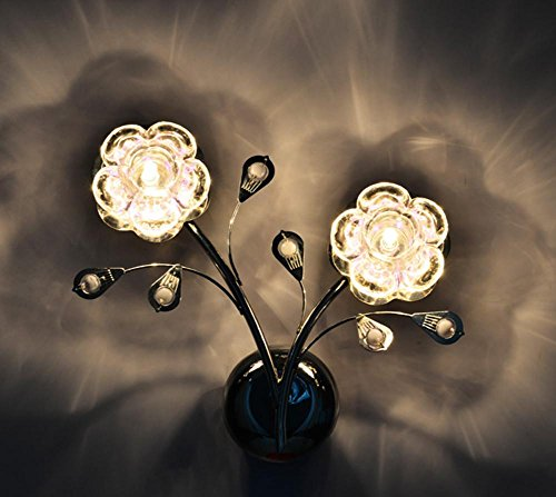 Glass European Style Led Wall Lamp Bedside Lamp Modern Simple Creative Bedroom Aisle Lights Living Room Lighting (32 28 10Cm) by DMMSS