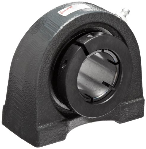 Browning VTBB-222 Pillow Block Ball Bearing, 2 Bolt, Non-Expansion Type, BOA Lock, Contact and Flinger Seal, Cast Iron, Inch, 1-3/8