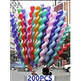 King's Store 200 PCS 40 inches giant latex spiral balloons/weddings/birthday parties decorated children's gifts