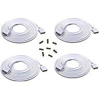 4 stuks per verpakking 2 m LED RGB Strip 4 pin LED verlengkabel LED strip connector uitbreiding aansluiting verdeler…