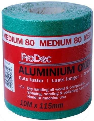 180 Grit: Fine - PAALX180 Prodec Aluminium Oxide Green Rolls 115mm x 10m