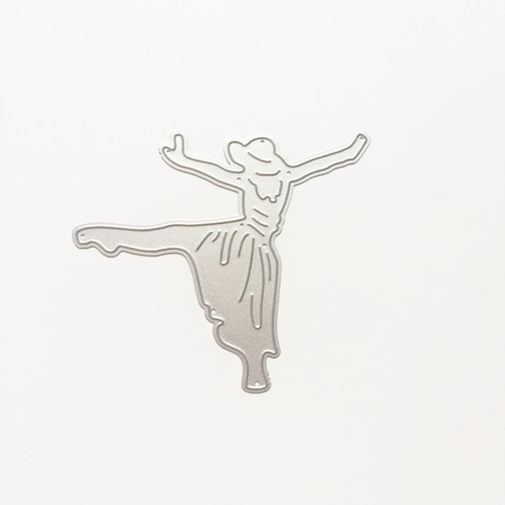 Metal Cutting Dies Stencils For DIY Scrapbooking Photo Album Card Dancing Girl by LIYUDL (Image #5)