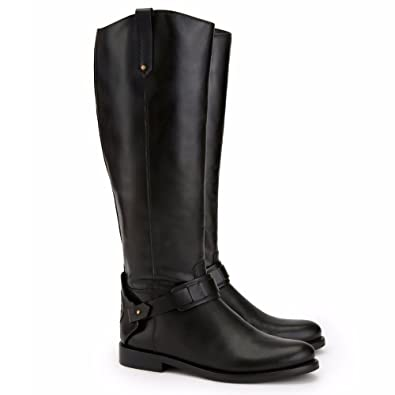 Amazon.com | Tory Burch Boots Darby Riding Tb Metal Logo Galleon ...