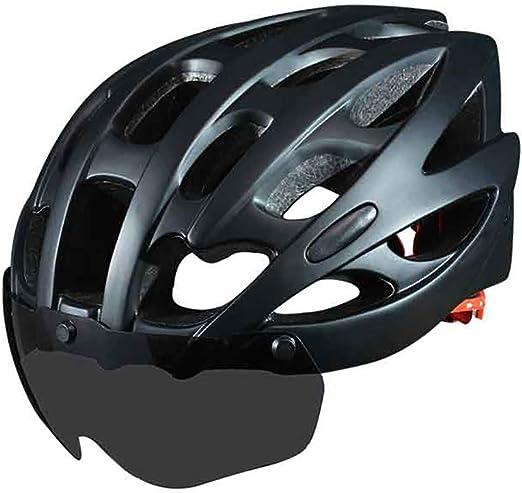 YAJAN-helmet Casco Bicicleta con Visera, Certificado CE ...